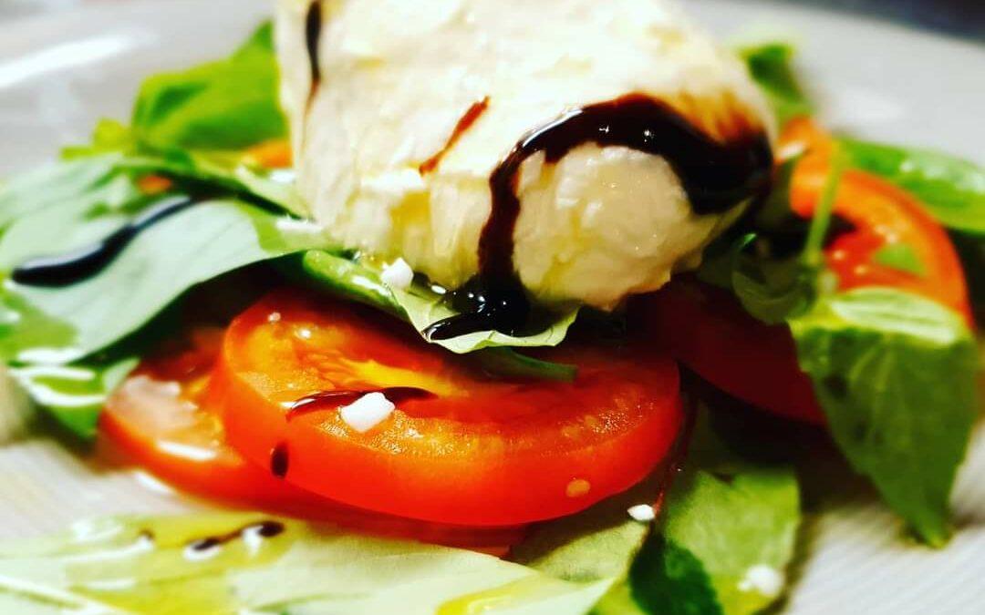 Tomat och mozzarella sallad